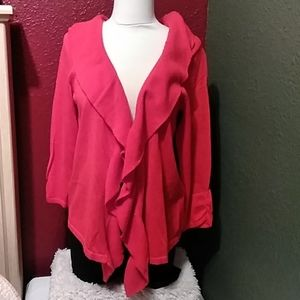 Chico's  red cardigan
